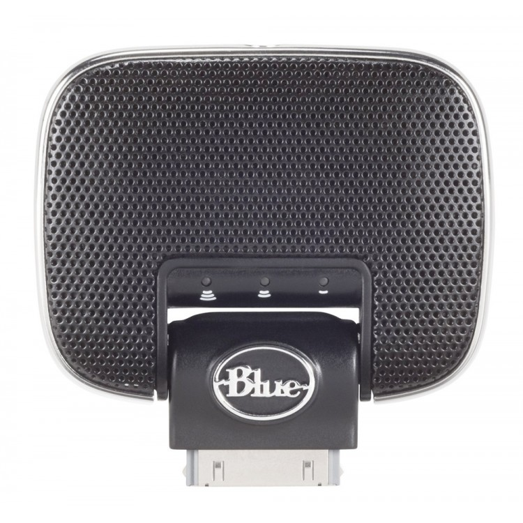 Blue Mikey Microphone for iPod/iPhone/iPad (30-pin Connector)