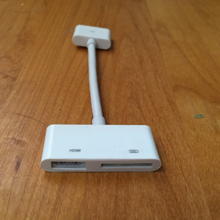 Apple Digital AV Adapter - White (MD098ZM/A) - USED