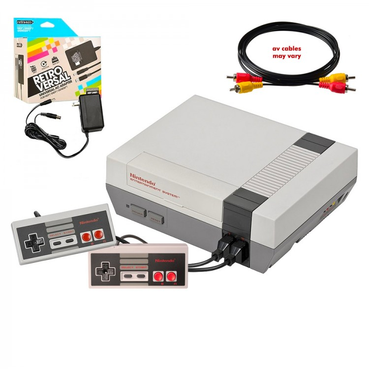 Nintendo (NES Original) console with 2 original controllers, power supply REFURBISHED