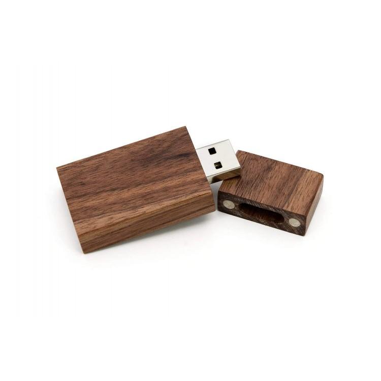 Natural Wood USB Flash Drive - Walnut Color
