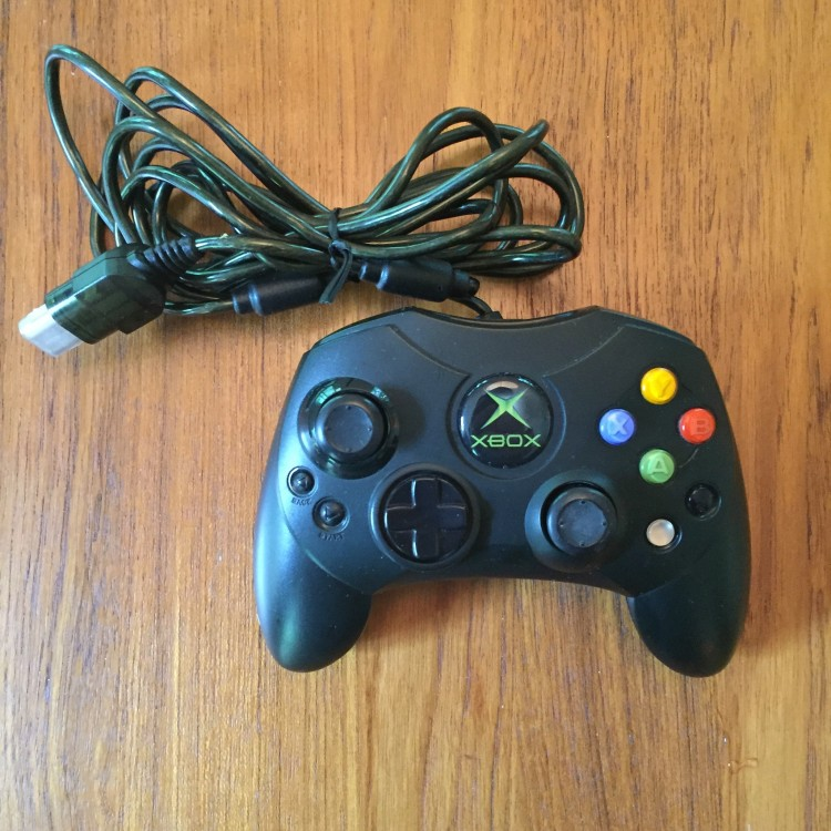 Microsoft Xbox Small Controller Black. Open Box.