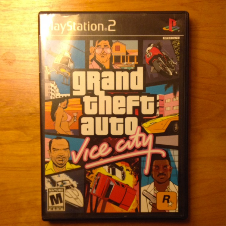 Grand Theft Auto - Vice City for PS2 video game - USED